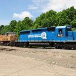 Norfolk Southern train displays 'Conrail Quality' scheme