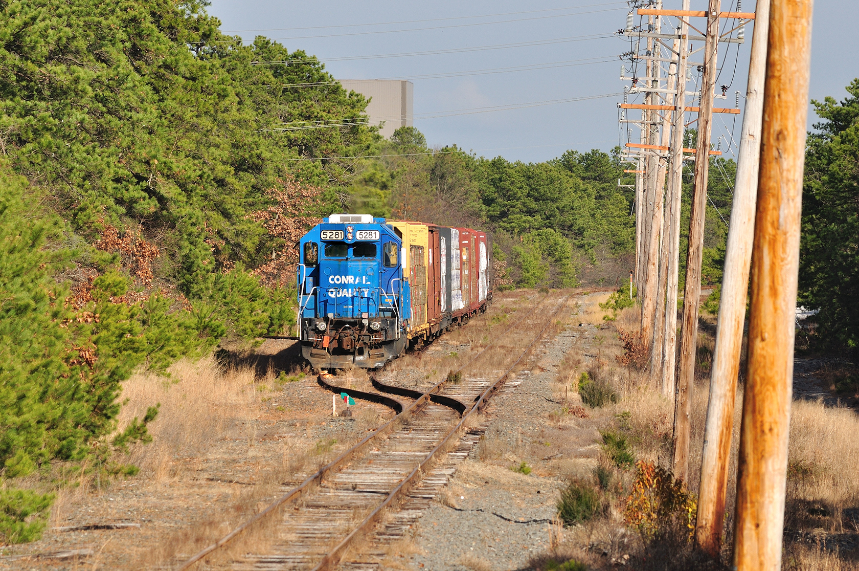 Conrail Shared Assets Symbol WPSA-31 sits on the runaround track in Lakehurst, NJ, for the final time