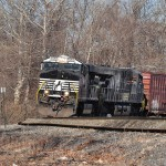 Elevated roadbed provides challenging departure from Lehigh River valley