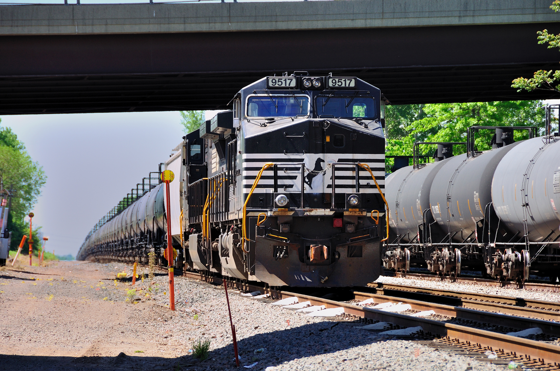 Norfolk Southern train 68Q parked on the Port Reading yard track, aka the 'east siding', in Carteret, NJ