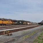 Norfolk Southern train sweeps past old Bethlehem Steel mill