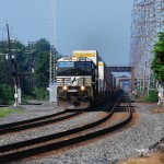 Norfolk Southern 20G races east on the NS Lehigh Line