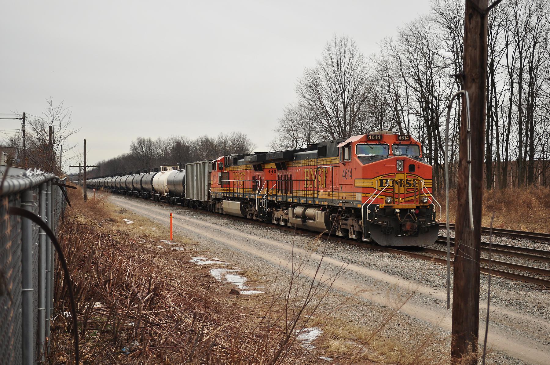 Burlington Northern Santa Fe units ready to head west