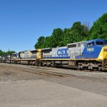 CSX and Norfolk Southern in unusual locomotive lashup