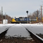 CSX locomotives push on through appointed rounds