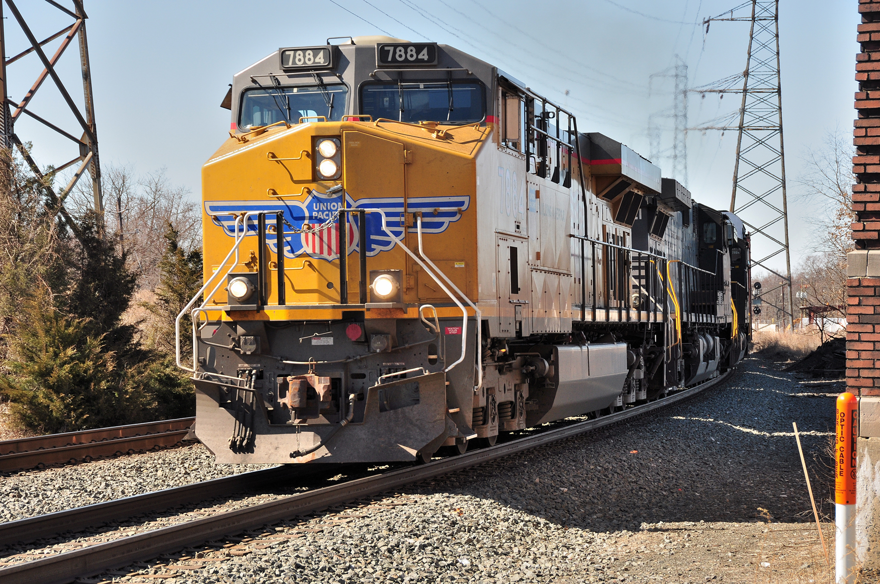 Norfolk Southern western visitor shines in Bound Brook's late winter sun