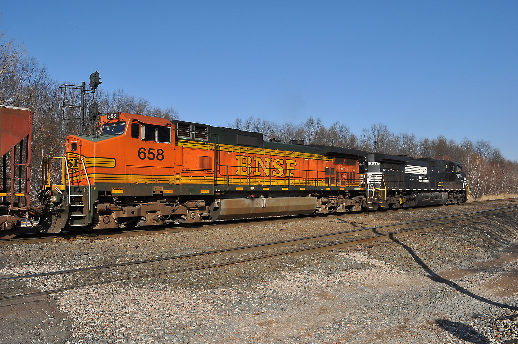 Norfolk Southern ethanol train 68Q enters the 'Chemical Coast Line'