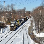 Former Erie Lackawanna locomotives provide transfer power for Conrail