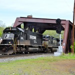 Norfolk Southern train 38G crosses the Lehigh Canal