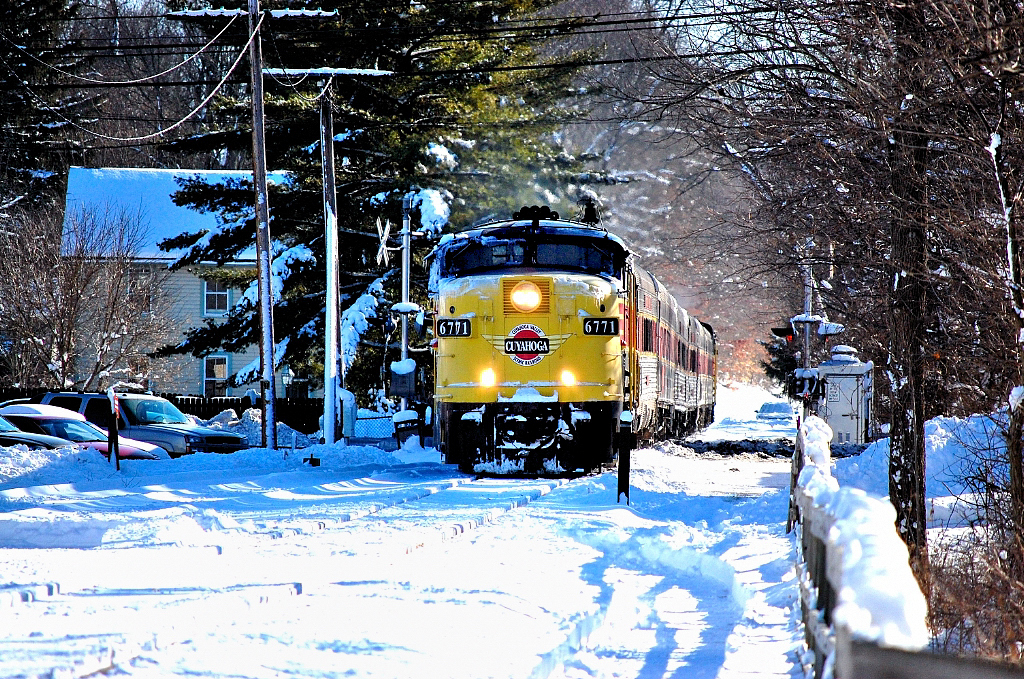 Cuyahoga Valley Scenic Railroad FPA4 6771 star of quintessential winter image