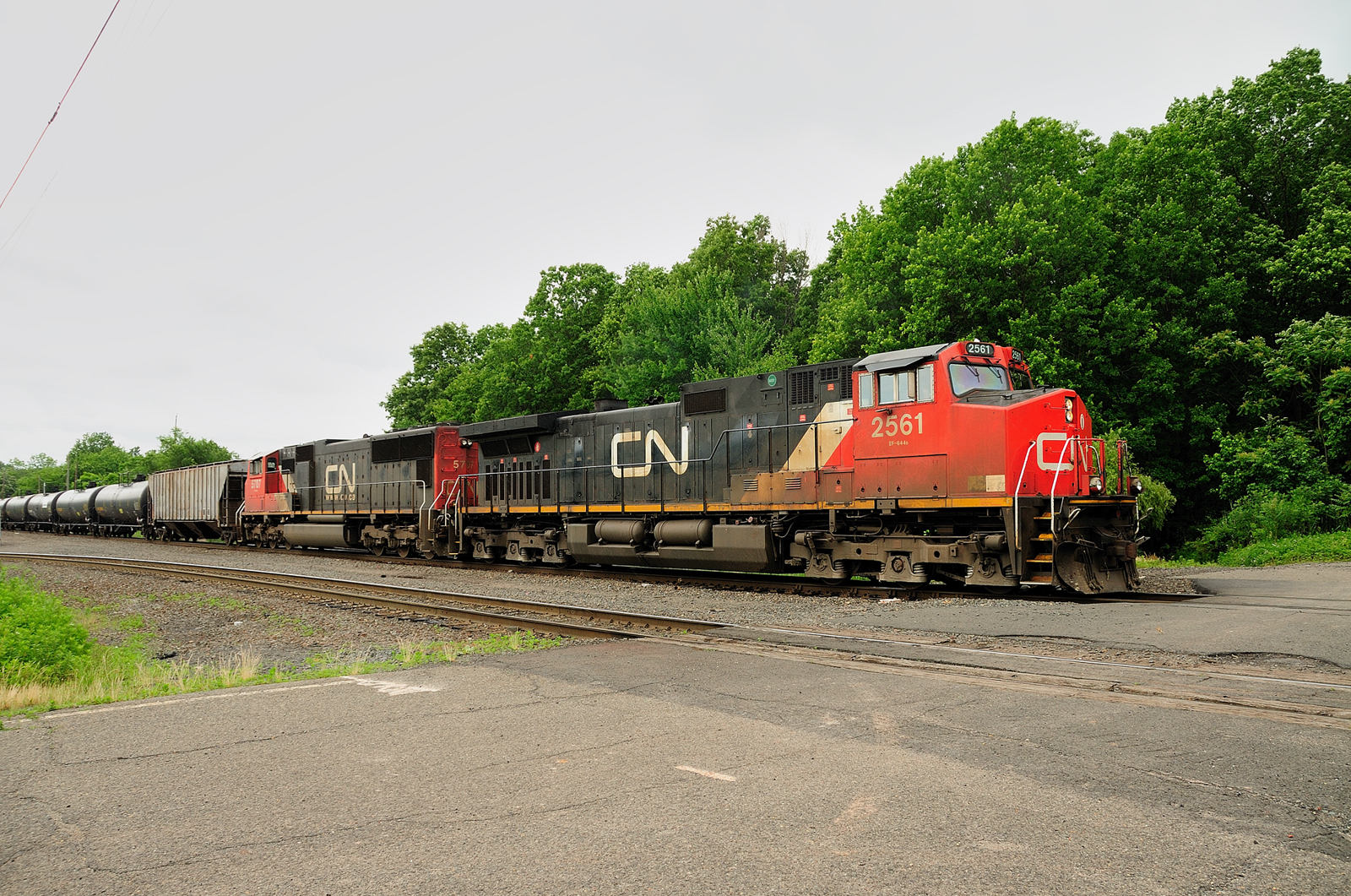Canadian National locomotives Port Reading NJ Chemical Coast Secondary
