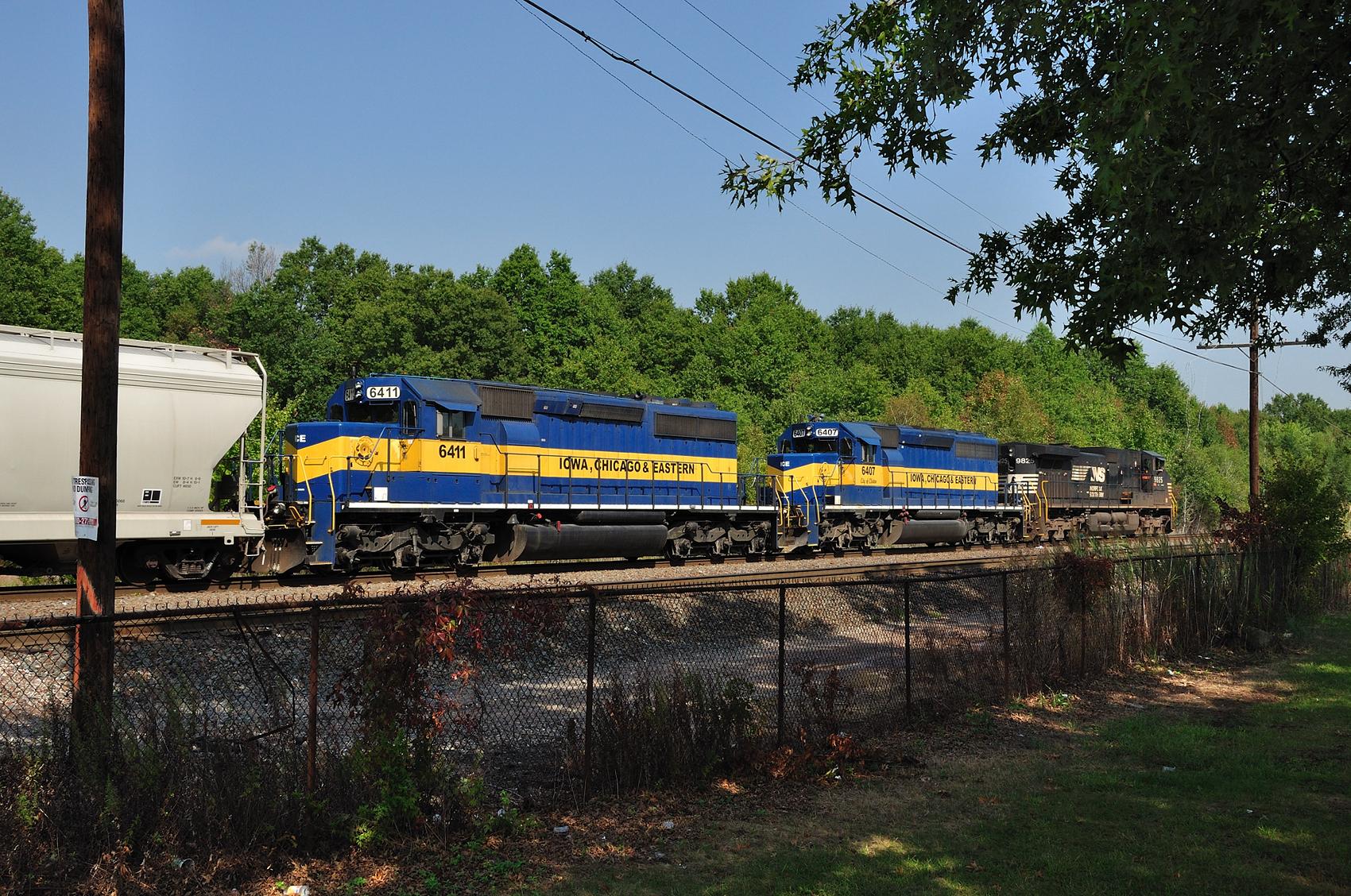 Conrail Chemical Coast Secondary Port Reading NJ NS train 68Q