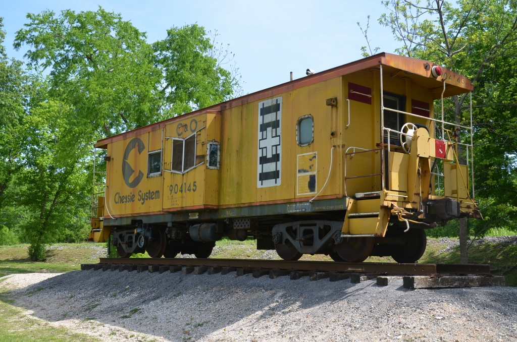 Former Chesapeake & Ohio caboose is part of Junction Park in Attalla Alabama