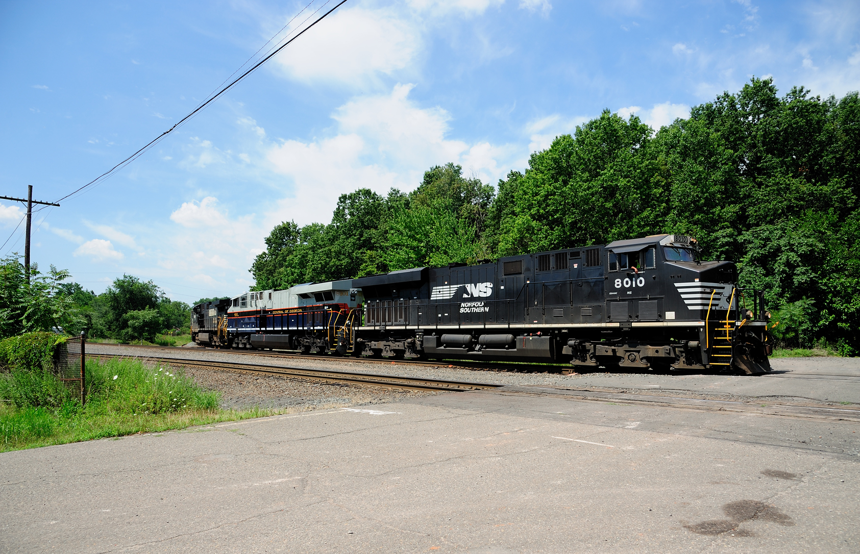 NS train 68Q Central of Georgia Heritage Unit Port Reading NJ