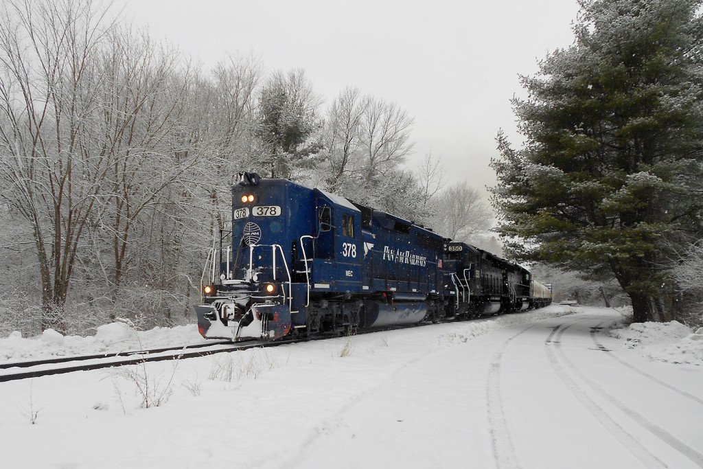 PanAm Railways train EDPO Westford Massachussets Stony Brook Line